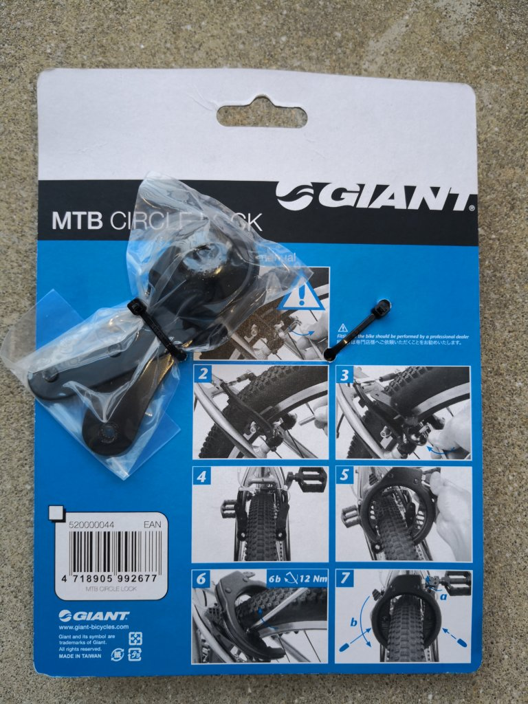 GIANT MTB CIRCLE LOCK
